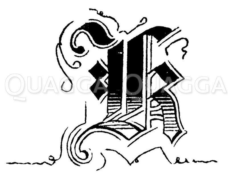 Buchstabe K Zeichnung/Illustration