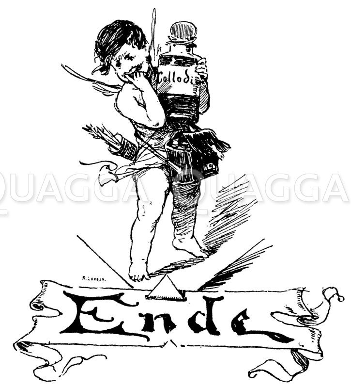 Schriftzug 'Ende' Zeichnung/Illustration