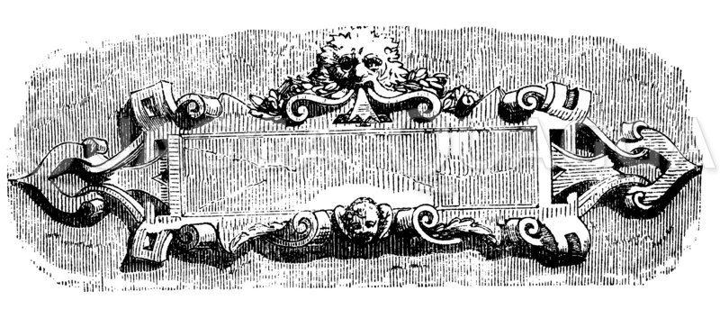 Kartusche aus dem 17. Jahrhundert Zeichnung/Illustration