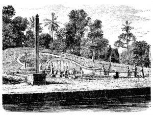 Chinesischer Begräbnisplatz in Batavia Zeichnung/Illustration