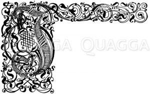 Gotische Fraktur: Buchstabe J. Initial. Dir. Götz