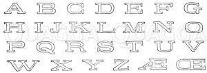 Lateinische Schrift: Alphabet