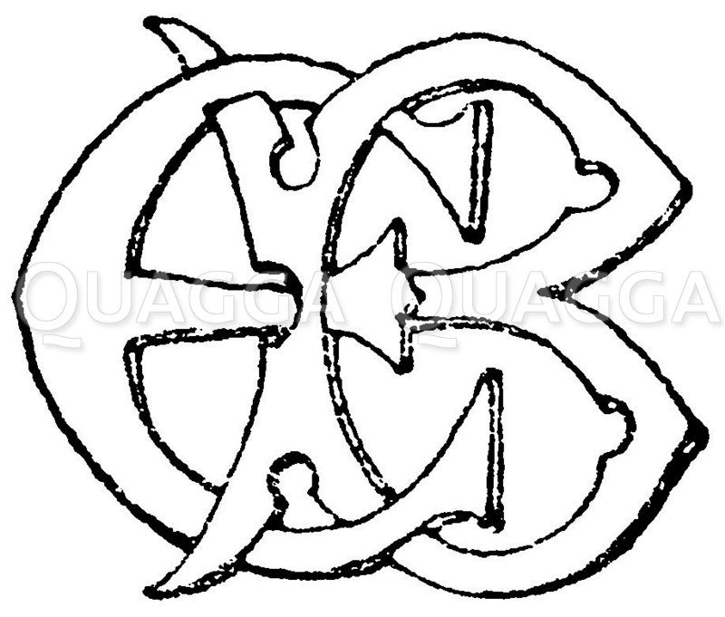 Monogramm: EB Zeichnung/Illustration