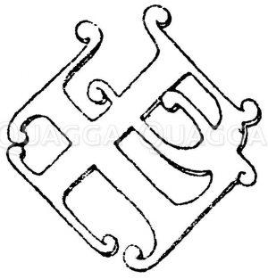 Monogramme nach Raguenet