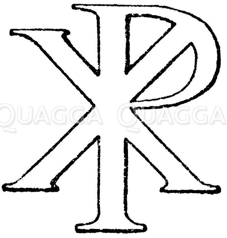 Monogramm Christi Zeichnung/Illustration