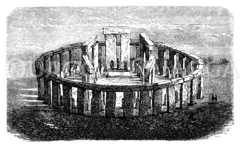 Stonehenge bei Salisbury Zeichnung/Illustration