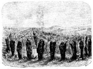 Steinreihen bei Carnac Zeichnung/Illustration