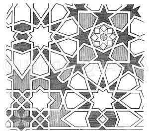 Deckenornament aus Malaga Zeichnung/Illustration