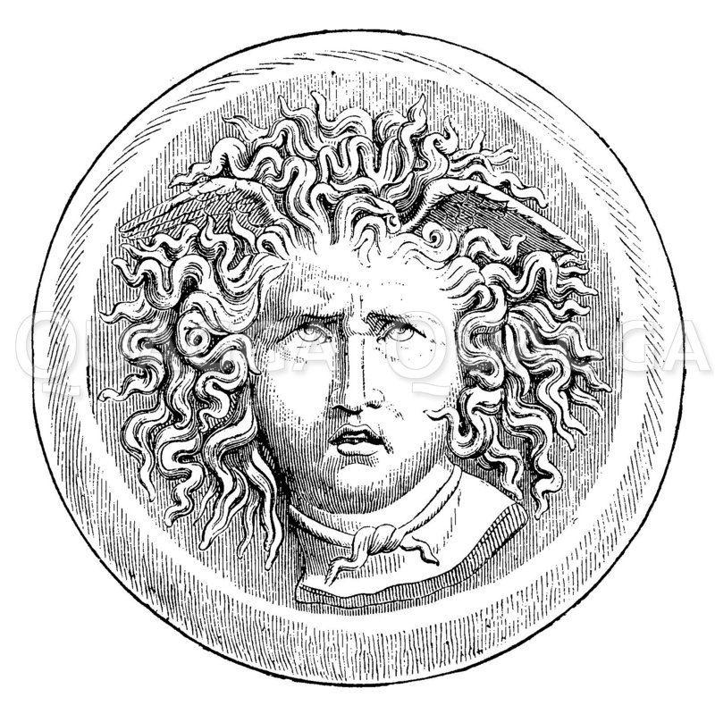 Vatikanische Medusa Zeichnung/Illustration