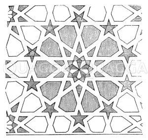 Ornament aus San Jago in Malaga Zeichnung/Illustration