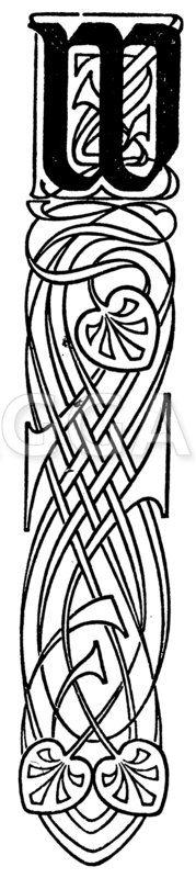 Initiale: Buchstabe W Zeichnung/Illustration