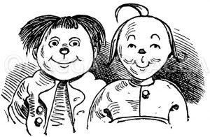 Max und Moritz von Wilhelm Busch Zeichnung/Illustration
