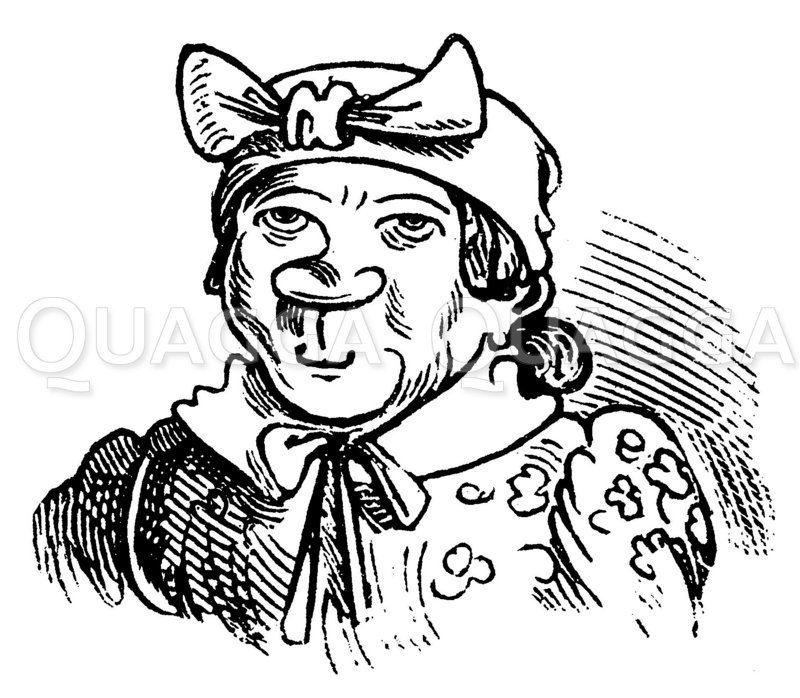 Witwe Bolte von Wilhelm Busch Zeichnung/Illustration