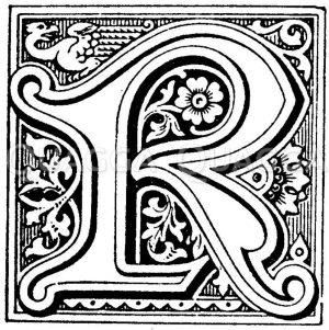 Initiale: R Zeichnung/Illustration