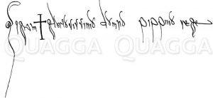 Unterschrift Pipins als König der Franken Zeichnung/Illustration