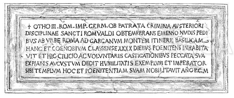 Kirchenbuße Kaiser Ottos III. Zeichnung/Illustration