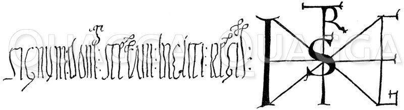 Signum Stephans des Heiligen Zeichnung/Illustration