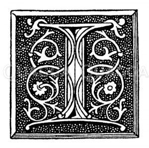Initiale: Buchstabe I Zeichnung/Illustration
