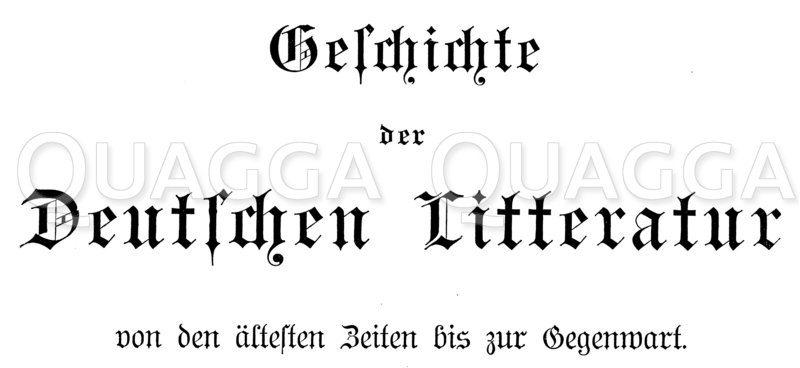 Schriftzug 'Geschichte der Deutschen Litteratur' Zeichnung/Illustration