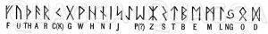 Altgermanisches Runenalphabet Zeichnung/Illustration