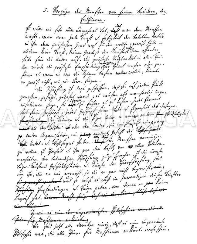 Seite aus Johann Gottfried Herders Entwurf der 'Ideen zur Philosophie der Geschichte der Menschehit'. Zeichnung/Illustration