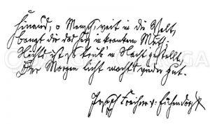 Autograph: Joseph Freiherr von Eichendorff