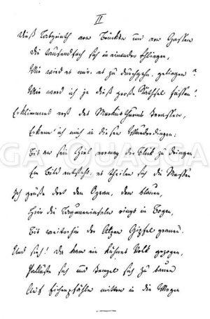Zwei Sonette von August Graf von Platen-Hallermünde Zeichnung/Illustration