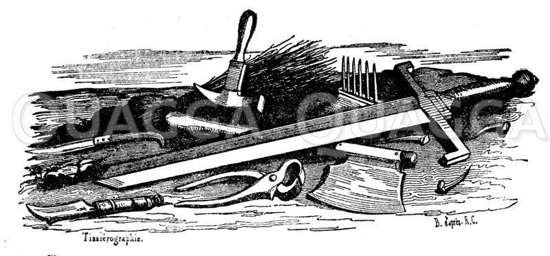 Schwert und Werkzeug zur Hinrichtung und Folter Zeichnung/Illustration