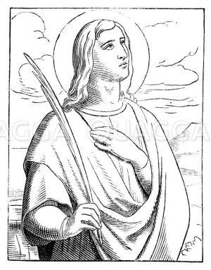 Hl. Vitus Zeichnung/Illustration