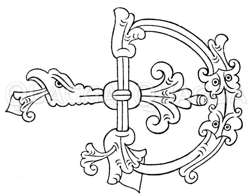 Buchstabe D Zeichnung/Illustration