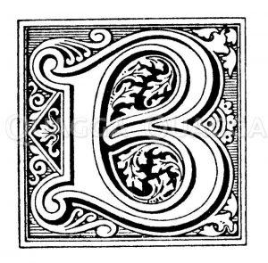 Intiale: Buchstabe B Zeichnung/Illustration