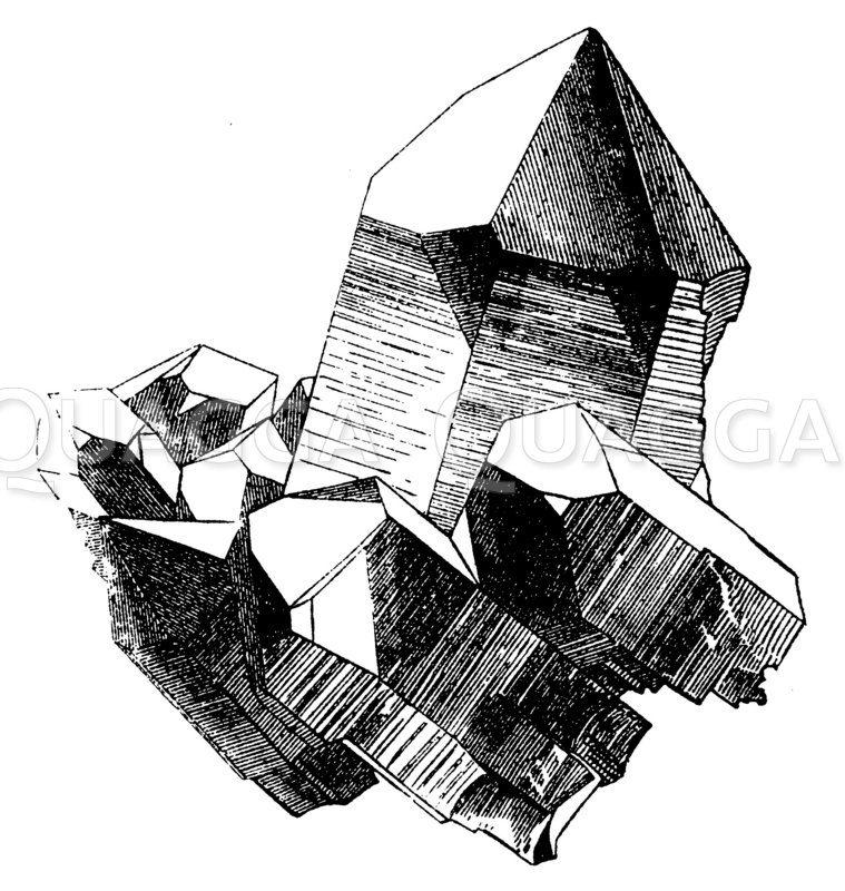 Bergkristall vom St. Gotthard Zeichnung/Illustration