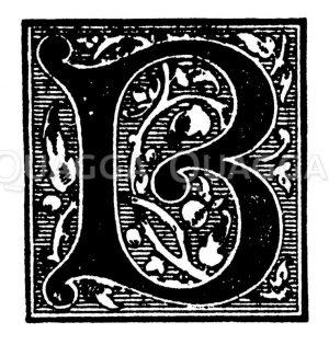Initiale: Buchstabe B Zeichnung/Illustration