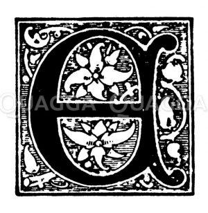 Initiale: Buchstabe E Zeichnung/Illustration
