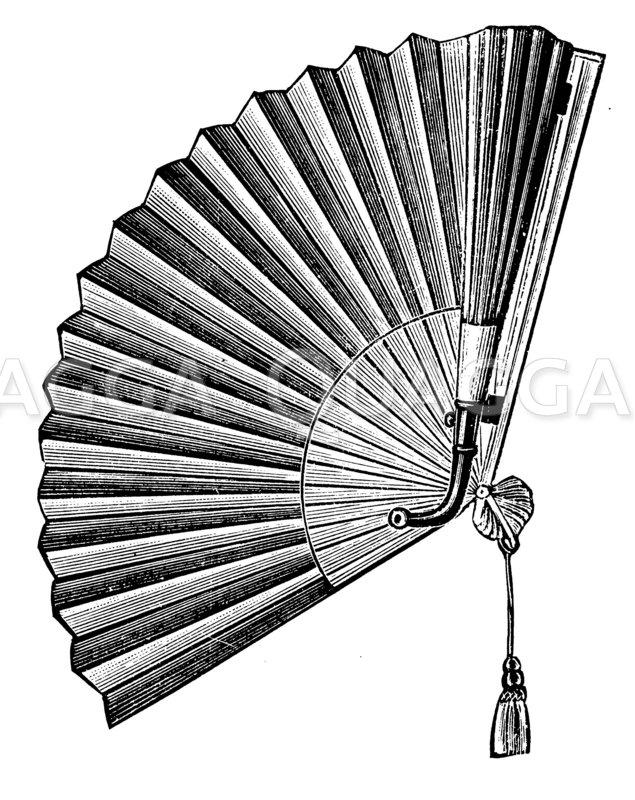 Fächer mit Höhrrohr Zeichnung/Illustration