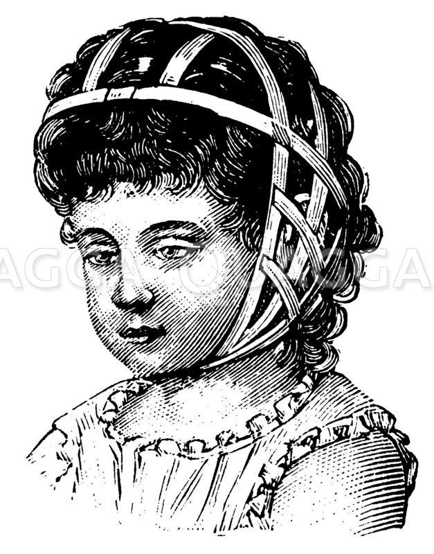 Ohrenkappe. Nach Hawehs Zeichnung/Illustration