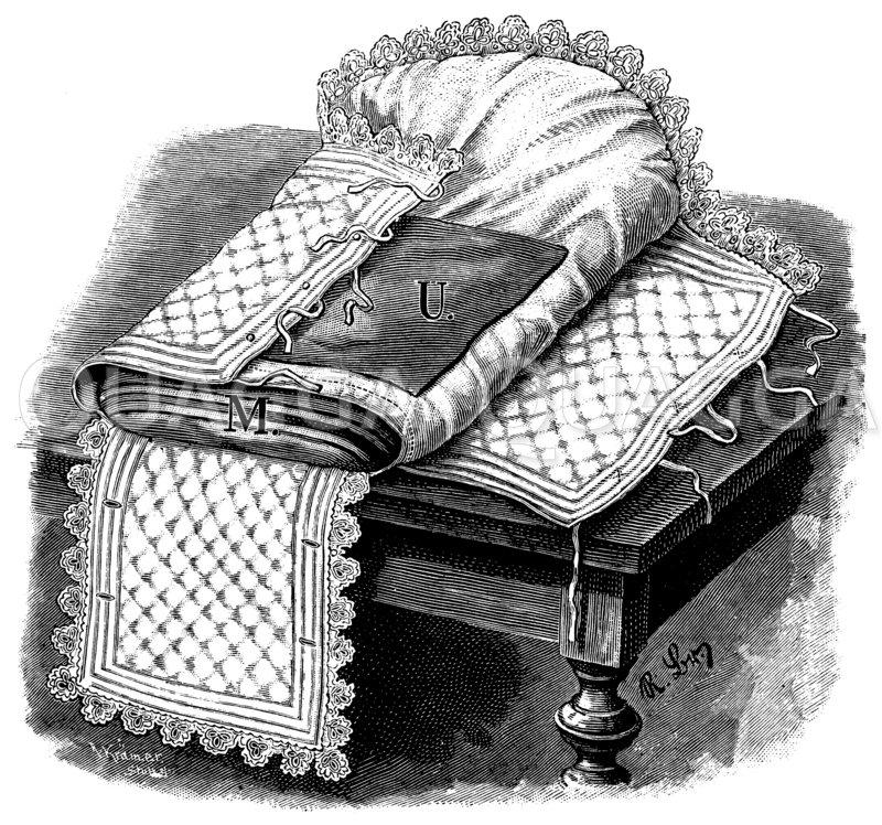Steck- oder Tragkissen Zeichnung/Illustration