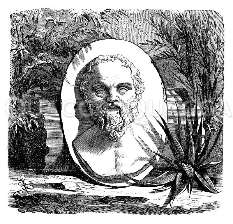 Sokrates Zeichnung/Illustration