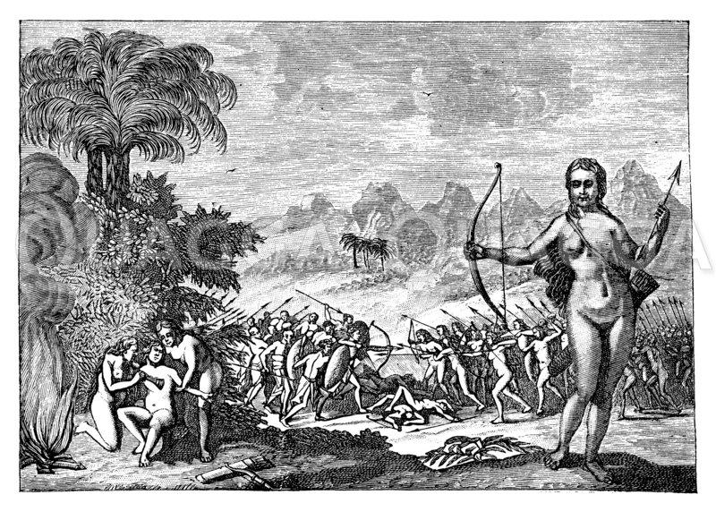 Amazonen von Monomotapa Zeichnung/Illustration