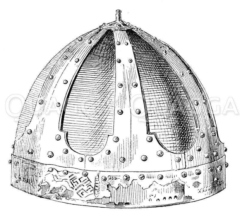Helm Heinrichs des Löwen Zeichnung/Illustration