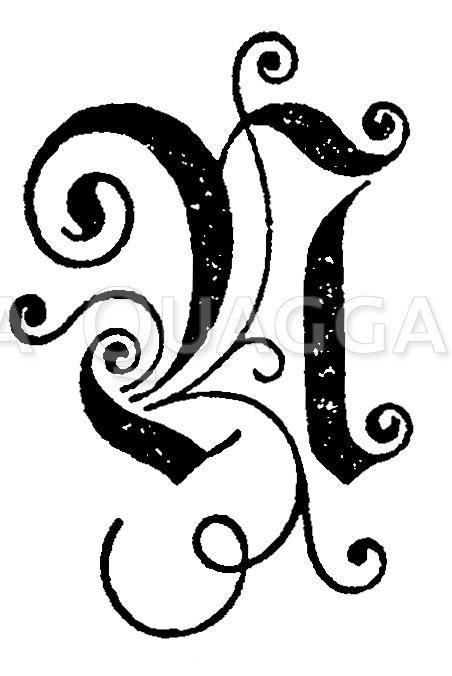 Buchstabe N Zeichnung/Illustration