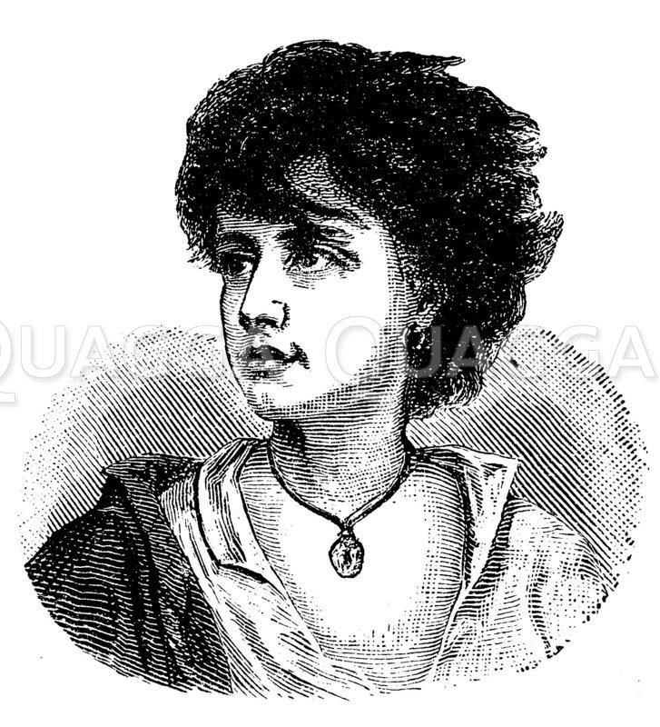 Porträt eines Neapolitaners. Von Gustav Richter Zeichnung/Illustration