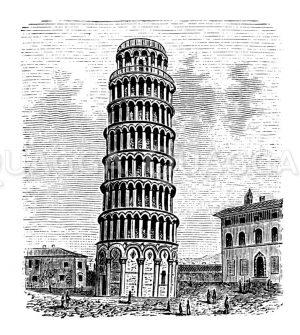 Der schiefe Turm zu Pisa Zeichnung/Illustration