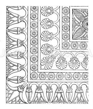 Bodengetäfel zu Kujundschik Zeichnung/Illustration