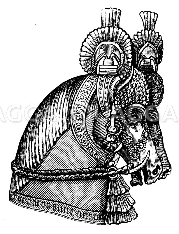 Assyrisches Pferdezeug Zeichnung/Illustration