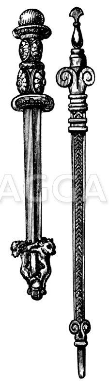 Assyrische Schmuckwaffen Zeichnung/Illustration