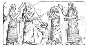 Relief aus Khorsabad Zeichnung/Illustration