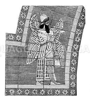 Wandgemälde aus Ninive Zeichnung/Illustration