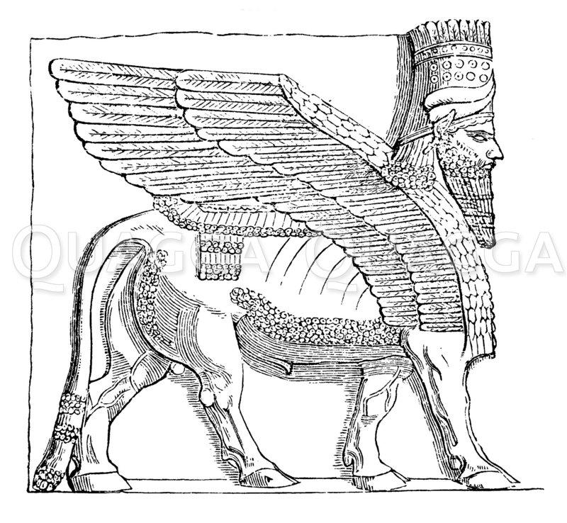 Portalfigur aus Khorsabad Zeichnung/Illustration
