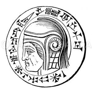 Schwarzer babylonischer Tameo mit dem Bildnis Nebukadnezars. H. Museum zu Berlin Zeichnung/Illustration